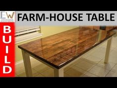 Farm-house Table Design 1 - Epoxy Coating - YouTube