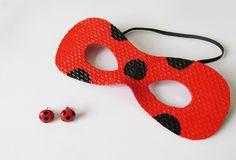 Ideias Personalizadas : DIY: Brincos e Máscara MIRACULOUS LADYBUG