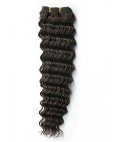 "4pcs/lot  Virgin Brazilian Hair Deep Wave #2 Darkest Brown  10""-32"""