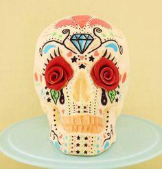 Day of the dead skull cake