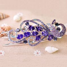 Alligator Hair Clip Zinc Alloy with Crystal Peacock plated with Czech  rhinestone faceted nickel lead cadmium free wholesale jewelry beads 2fe3398a322c