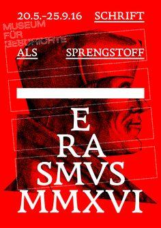 erasmus font  poster