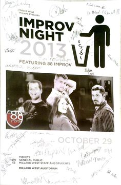 A signed poster that was waiting for us back stage after our show from the students at Millard West!  Thanks guys!  We had a great time.