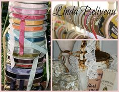 """.Welcoming back Ms. """"Linda B."""" she is known for her wide variety of colored seam binding ribbons, laces, buttons, vintage notions and accessories! March 1-3, 2013"""
