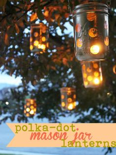 You already knew we're pretty obsessed with Mason jars, so it's only natural we'd find a way to bring them outside. Adding polka-dots makes them even more adorable. Get the instructions on The Sits Girls.