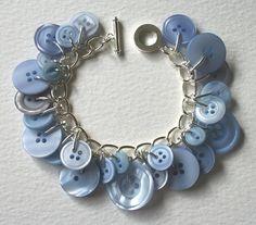 Button Bracelet Pale Spring Sky Blue by MrsGibson on Etsy, $22.50