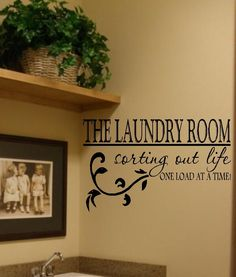 The Laundry Room Vinyl Wall Decal Decor Lettering Art. $16.00, via Etsy.