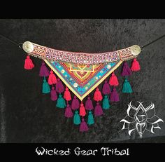 Your place to buy and sell all things handmade Estilo Tribal, Estilo Retro, Indian Textiles, Vintage Textiles, Belly Dance Belt, Tribal Warrior, Tribal Costume, Tribal Belly Dance, Tribal Fusion