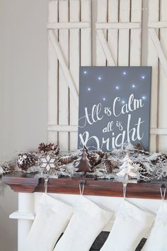 Silent Night Twinkle Light Canvas - I think I have all the supplies for this!