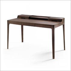 porada saffo writing desk, canaletto walnut by c. ballabio £2418