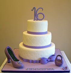 Sweet Sixteen Cake by cakespace - Beth (Chantilly Cake Designs), via Flickr