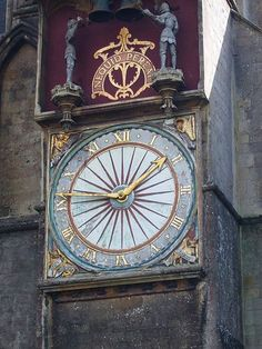 Wells Cathedral in Somerset -- Britain's oldest clock face