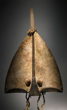 Africa | Sawfish headdress (Kaissi) from the Bidjogo people of Bissagos Islands, Guinea Bissau | This old and impressive mask is an elegantly stylized representation of the head of a sawfish, used in the initiation ceremonies