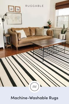 Ruggable machine washable rugs are here! Waterproof, non-slip, and stylish. Live in the moment, not in stains. in 2020 Decor, Home Decor Inspiration, Washable Rugs, Living Room Decor, House Interior, Apartment Decor, Home Design Decor, Ruggable, Rugs In Living Room