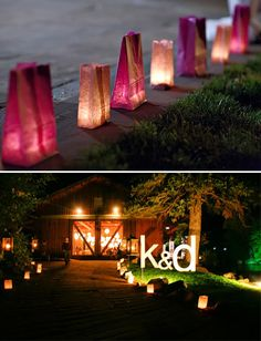 You Light Up My Day! I Mean... My Night! :  wedding decor diy lighting reception reception decor Luminar