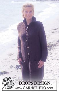 DROPS Long or short coat in Eskimo. ~ DROPS Design