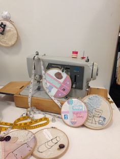 As Textiles; collaborative textiles installation, stitch, applique, collage, mix media, buttons, lace, thread, vintage papers, drawing, sketching- embroidery hoop art. A Level Textiles, Embroidery Hoop Art, Vanitas, Mix Media, Vintage Paper, Sketching, Applique, Collage, Buttons