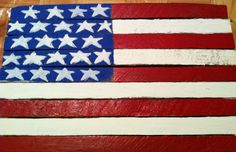 American Flag made from old Kentucky Tabacco sticks.