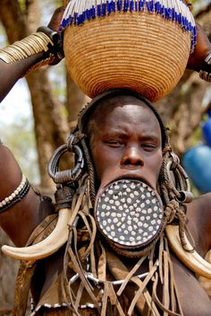 Mursi tribe, Omo Valley in Ethiopia