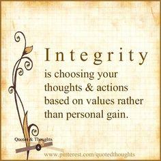 Integrity...