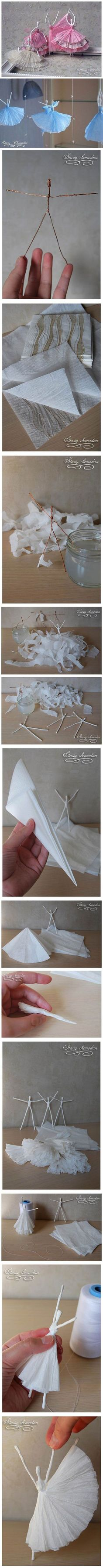 handmade balerina din servetele de hartie 1 Handmade balerine din servetele de hartie Tutorial