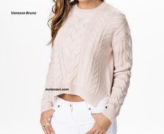 Вязаный пуловер спицами от Vanessa Bruno - СХЕМЫ #ВязаниеСпицами http://mslanavi.com/2016/07/vyazanyj-pulover-spicami-ot-vanessa-bruno/