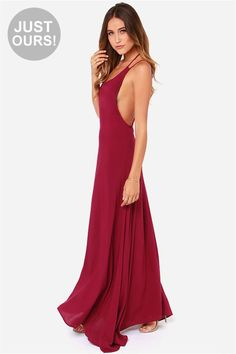 569af5746063 LULUS Exclusive All About You Burgundy Maxi Dress at LuLus.com! Blue  Dresses
