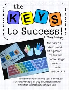 Teaching Keyboarding Skills Bulletin Board Poster set