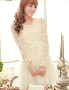 Fabulous Apricot Lace Jewel Straight Long Sleeve Mini Hollow Out Casual Dresses Beautiful Cocktail Dresses, Wholesale Jewelry, Casual Dresses, Wedding Dresses, Lace, Womens Fashion, Long Sleeve, Mini, Outfits