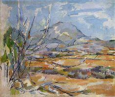 ART & ARTISTS: Paul Cézanne - part 8 Paul Cézanne 1885-87 Mont Sainte-Victoire oil on canvas 55 x 65 cm Scottish National Gallery, Edinburgh