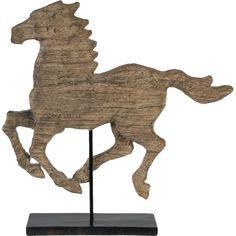 Laurel Foundry Modern Farmhouse Wood Horse Figurine & Reviews | Wayfair