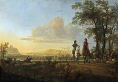 Всадники и пастухи со стадом -- 1655-60, 120х171, Нац гал Вашингтон