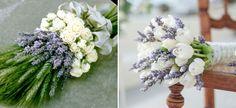 Букет невесты из лаванды - варианты сочетания с другими цветами, фото