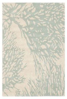 Coral-inspired motif rug