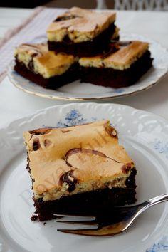Krem Peynirli Brownie , Marbled Cream Cheese Brownies Best Brownie Recipe, Brownie Recipes, Cake Recipes, Dessert Recipes, Blondie Brownies, Best Brownies, Cheesecake Brownies, Oreo Frosting, Cream Cheese Brownies