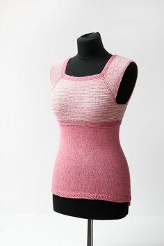 Návod na dámskou pletenou vestu (top) - velikost XS - XXXL Cloths, High Neck Dress, Tutorials, Tops, Dresses, Women, Fashion, Drop Cloths, Turtleneck Dress