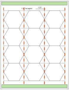 Geta's Quilting Studio: Tips for cutting hexagon templates