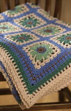 Restful Tiles Throw Crochet Pattern - free pattern   :)