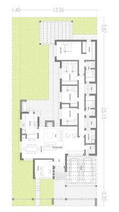 Dom z gabinetem Craftsman Floor Plans, Modern Floor Plans, Contemporary House Plans, House Floor Plans, Small House Plans, Drawing House Plans, Circle House, Architectural Floor Plans, Villa Plan