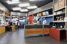 MAKERLAND_July, 2015 Interior design for the store Auchan shopping mall, in Via Lario 17, Monza
