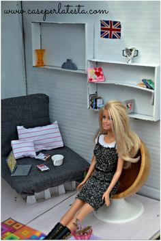 Casa di Barbie fai da te a costo zero *  DIY Barbie house at no cost