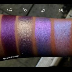 Hey guess what?? I found some pigment swatches that I never posted! What a dummy I am. I believe this is my 6th post of Inglot pigment swatches but they're all spread out over the last month so it'll be like an Easter egg hunt if you're trying to find them on my feed. I'll do a big fat blog post when I'm finished so that they're all in one place. I narrowed it down to 6 pics that you have to look through but I easily could've posted 10 because 112 is such a shifty son of b! She looks…