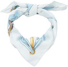 Hermès Vintage printed silk scarf