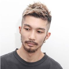 Crew cut with Volume and Highlights - Asian Hairstyles, Low Fade, High Fade, Skin Fade, Fade Haircut Undercut Asian Fade Haircut, Asian Undercut, Crop Haircut, Asian Men Hairstyle, Men Hairstyles, Haircuts For Men, Asian Hairstyles, Hairstyle Ideas, Low Skin Fade