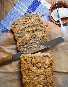 Tropical Banana Bread with Macademia Nuts, Pineapple and Coconut - tropical and delicious!