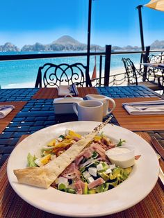 It's time at at Showcased is the Chef Salad, a delicious and healthy concept to keep you energized for the day. Chef Salad, California Restaurants, Lunch Time, Cabo, Concept, Vacation, Healthy, Beach, Outdoor Decor