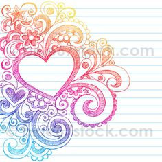 Hand-Drawn Abstract Sketchy Heart Doodle Drawing Vector Illustration by blue67stock.com by blue67design, via Flickr