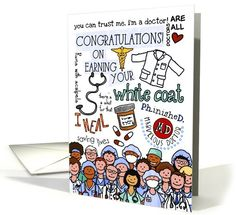Congratulations on earning your white coat card - know anybody who's studying to be an MD? So cute! by Corrie Kuipers