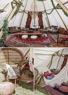 Inside the tent decor details, Outdoor Boho wedding, Wedding ideas, Wedding tent