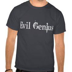 Evil Genius Tee Shirt  #halloween